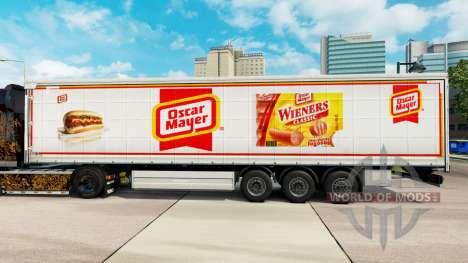 Скин Oscar Mayer шторный полуприцеп для Euro Truck Simulator 2