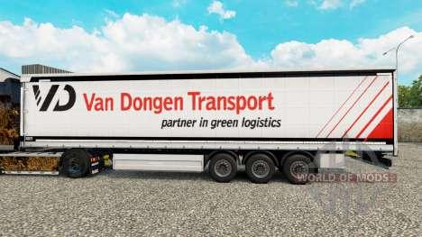 Скин Van Dongen Transport шторный полуприцеп для Euro Truck Simulator 2