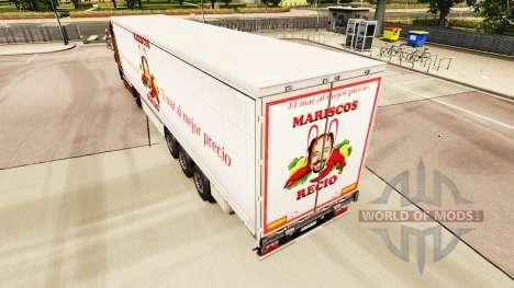 Скин Mariscos Recio на шторный полуприцеп для Euro Truck Simulator 2