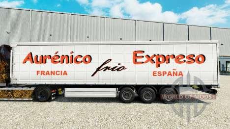 Скин Aurenico frio Expreso на шторный полуприцеп для Euro Truck Simulator 2