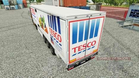 Скин Tesco шторный полуприцеп для Euro Truck Simulator 2