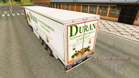 Скин Duran на шторный полуприцеп для Euro Truck Simulator 2