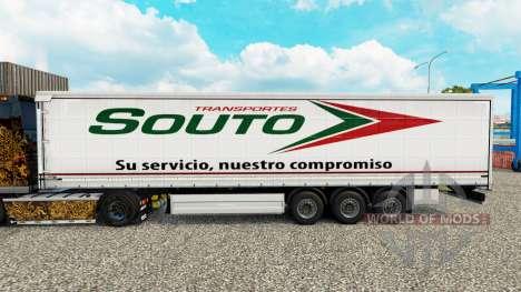 Скин Souto шторный полуприцеп для Euro Truck Simulator 2