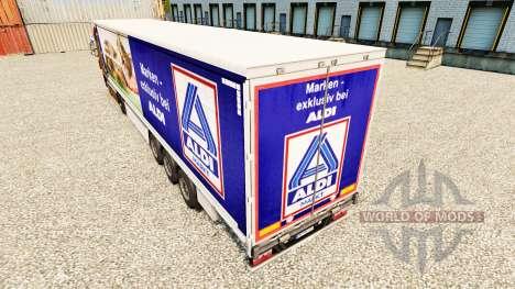 Скин Aldi Markt на шторный полуприцеп для Euro Truck Simulator 2