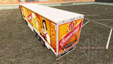 Скин Gambrinus на шторный полуприцеп для Euro Truck Simulator 2