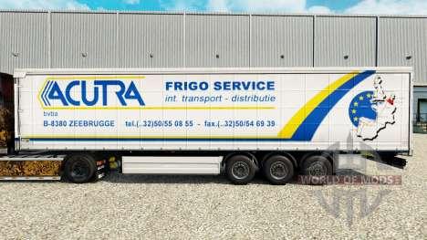 Скин Acutra на шторный полуприцеп для Euro Truck Simulator 2