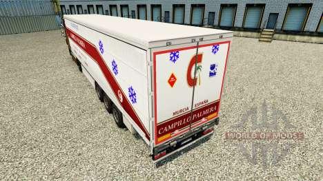 Скин Campillo Palmera на шторный полуприцеп для Euro Truck Simulator 2