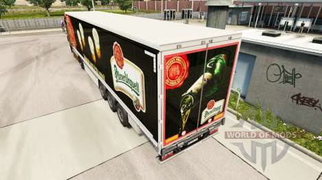 Скин Pilsner Urquell шторный полуприцеп для Euro Truck Simulator 2