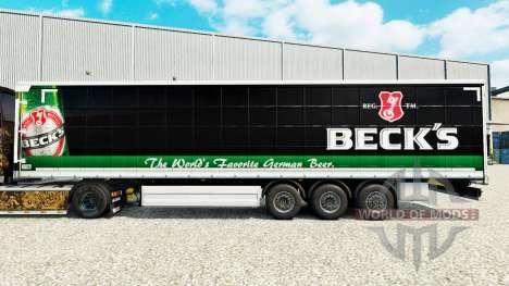 Скин Becks на шторный полуприцеп для Euro Truck Simulator 2