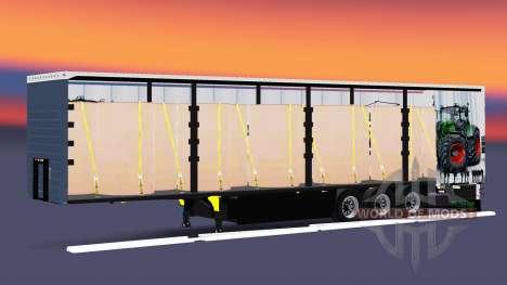Шторный полуприцеп Schmitz Cargobull Fendt v2.0 для Euro Truck Simulator 2