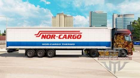 Скин Nor-Cargo Thermo на шторный полуприцеп для Euro Truck Simulator 2