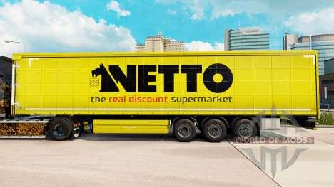 Скин Netto на шторный полуприцеп для Euro Truck Simulator 2