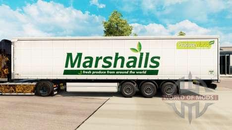 Скин Marshalls на шторный полуприцеп для Euro Truck Simulator 2