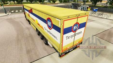 Скин HK Camping на шторный полуприцеп для Euro Truck Simulator 2