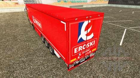Скин Eroski на шторный полуприцеп для Euro Truck Simulator 2