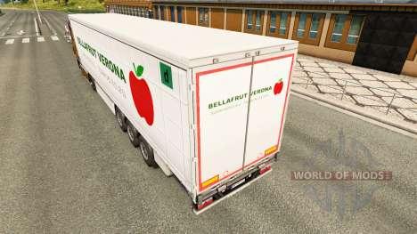 Скин Bellafrut Verona на шторный полуприцеп для Euro Truck Simulator 2