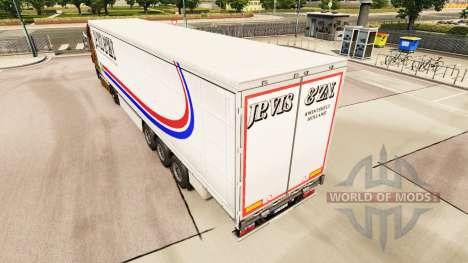 Скин Jp. Vis & Zn. на шторный полуприцеп для Euro Truck Simulator 2