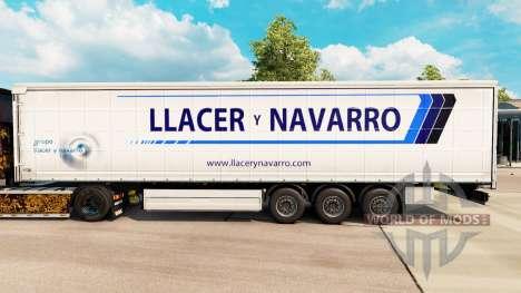 Скин Llacer y Navarro на шторный полуприцеп для Euro Truck Simulator 2