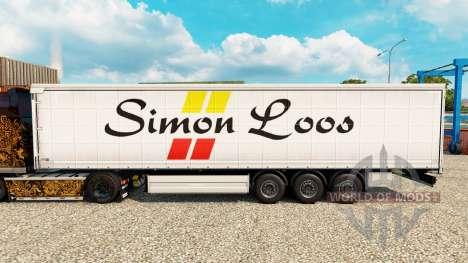 Скин Simon Loos шторный полуприцеп для Euro Truck Simulator 2