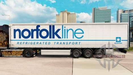 Скин Norfolkline шторный полуприцеп для Euro Truck Simulator 2