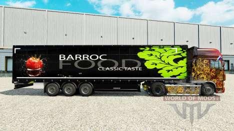 Скин Barroc Food на шторный полуприцеп для Euro Truck Simulator 2