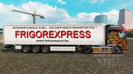 Скин Frigorexpress на шторный полуприцеп для Euro Truck Simulator 2