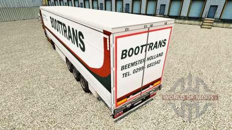 Скин BootTrans на шторный полуприцеп для Euro Truck Simulator 2