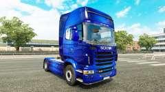 Скин Fantastic Blue на тягач Scania