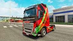 Скин Red Effect на тягач Volvo