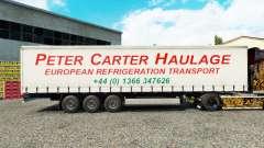 Скин Peter Carter Haulage на шторный полуприцеп