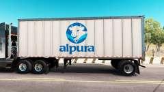 Скин Alpura на цельнометаллический полуприцеп