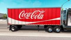 Скин Coca-Cola на цельнометаллический полуприцеп