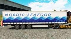 Скин Nordic Seafood на шторный полуприцеп
