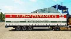 Скин H.E.Payne Transport на шторный полуприцеп