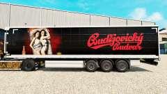 Скин Budweiser на шторный полуприцеп