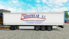 Скин Transfricar S.L. шторный полуприцеп