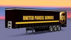 Скин United Parcel Service на шторный полуприцеп