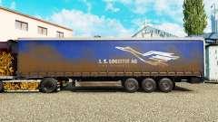 Скин J.S.Logistik AG на шторный полуприцеп