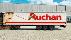 Скин Auchan на шторный полуприцеп