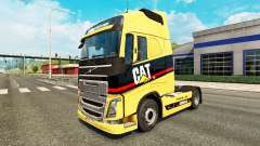 Скин Caterpillar на тягач Volvo для Euro Truck Simulator 2
