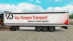 Скин Van Dongen Transport шторный полуприцеп