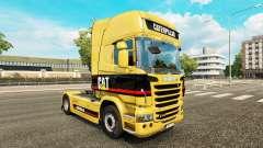 Скин Caterpillar на тягач Scania