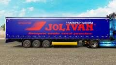Скин Jolivan Transportes на шторный полуприцеп