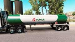 Скин Pemex v3 на газовый полуприцеп-цистерну
