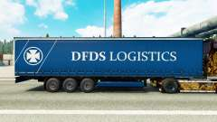 Скин DFDS Logistics на шторный полуприцеп