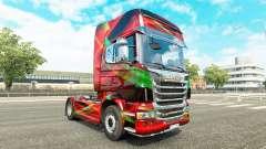 Скин Red Effect на тягач Scania