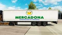 Скин Mercadona на шторный полуприцеп