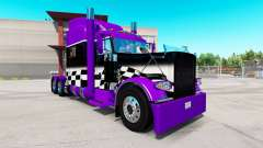 Скин Purple and Black checker на Peterbilt 389