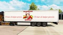 Скин Mariscos Recio на шторный полуприцеп