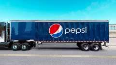 Скин Pepsi на шторный полуприцеп